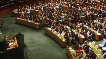 Blick in den Versammlungssaal der UNO in New York (Archiv)