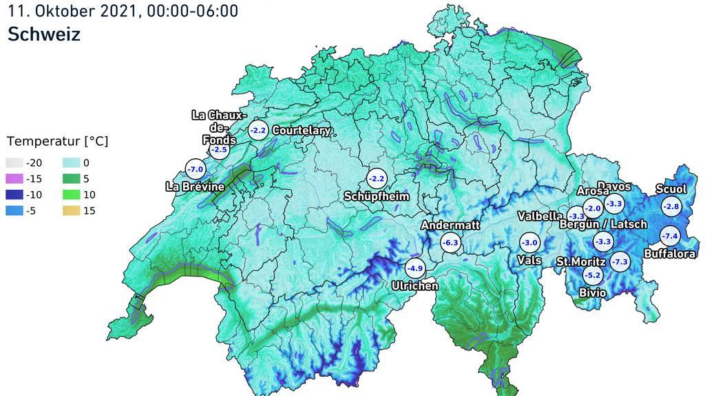 Schweiz schlottert bei Minus-Temperaturen