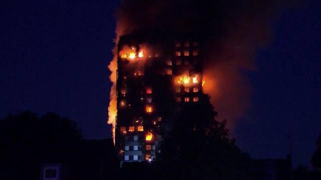 24-stöckiges Hochhaus brannte lichterloh