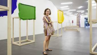 Anna Amadio im Kunsthaus Grenchen mit ihrer Ausstellung «Die Autonomie der Farbe – The closest I could get».
