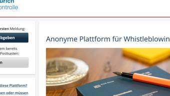 Die Stadt Zürich bietet Whistleblowern neu die Möglichkeit, sich anonym per Internet zu melden.