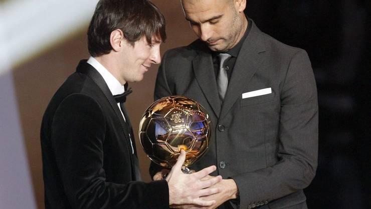 Lionel Messis Hattrick als Weltfussballer des Jahres 2011