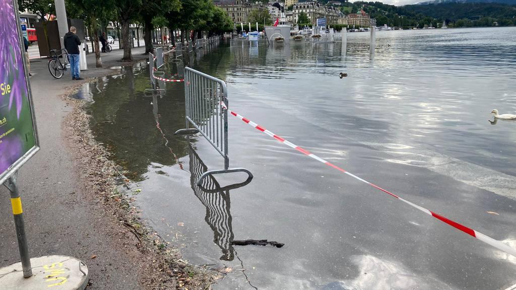 Hochwasser in Luzern vor rund einer Woche.