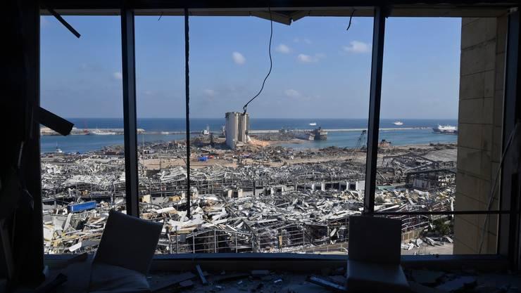 Ganze Quartiere wurden durch die Explosion am Hafen von Beirut zerstört.