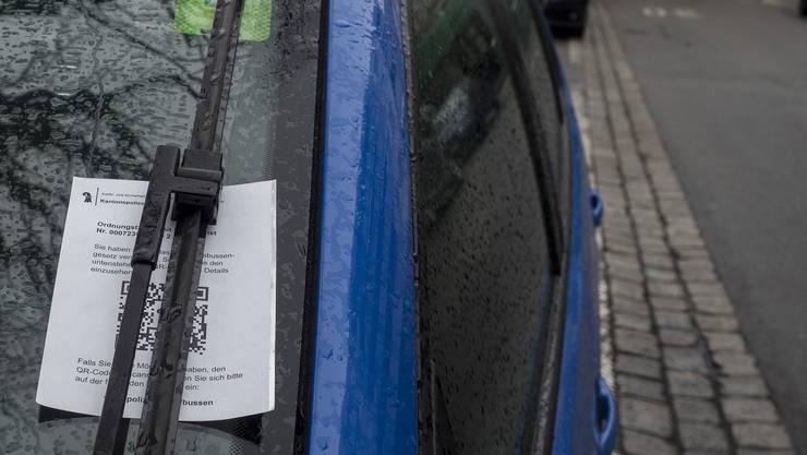 Parkbusse Basel-Stadt, QR-Code statt Einzahlungsschein
