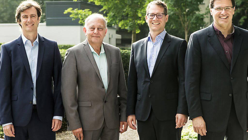 Die vier Gründer hinter dem Billigairline-Projekt Swiss Skies haben sich viel vorgenommen: Sie wollen Billigflüge auf der Langstrecke anbieten. Im Bild Harald Vogels, Philippe Blaise, Armin Bovensiepen und Alvaro Oliveira (von links).