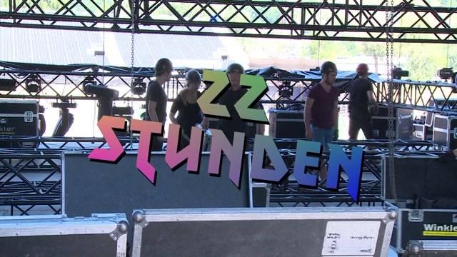 Aufbau für Sonisphere-Festival in vollem Gange
