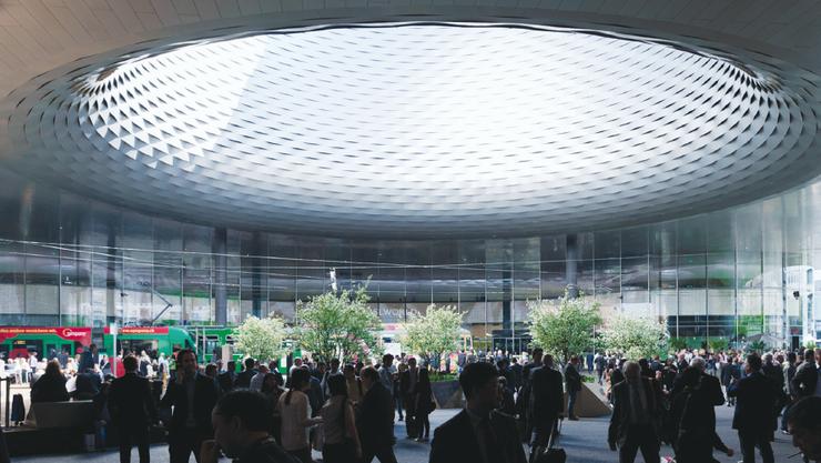 Der Messeplatz wird während dem OSZE-Gipfel in Basel zur roten Zone erklärt.
