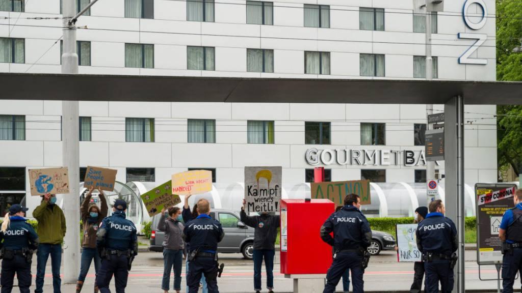 Polizei unterbindet Klima-Demo auf Bernexpo-Gelände