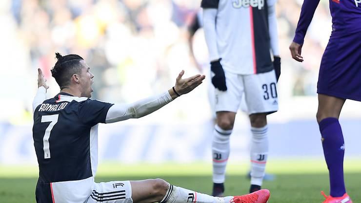 Die Partie gegen Hellas Verona verläuft trotz eines Tores nicht nach dem Geschmack von Superstar Cristiano Ronaldo