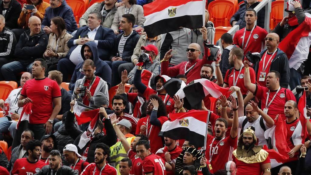 Ägypten-Fans hoffen auf einen Sieg ihrer Mannschaft.