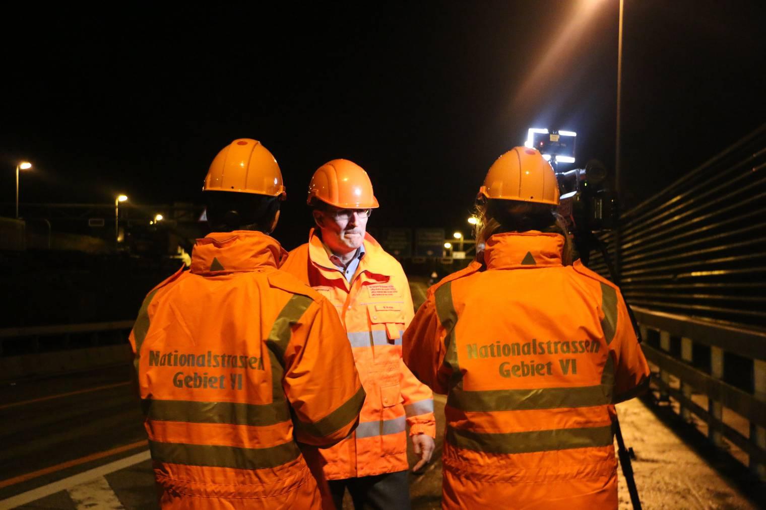 Markus Weber, Projektleiter beim Astra, ist zuversichtlich, dass die Arbeiten ohne Verkehrskollaps durchgeführt werden können. (Bild: FM1Today/Nina Müller)