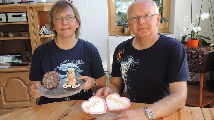 Reni (l.) und Geri Heiniger wollen Produkte anbieten, mit denen man Emotionen transportieren kann.