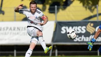 Bereitet in Neuenburg gleich drei Tore vor: Wohlen-Captain Alain Schultz.