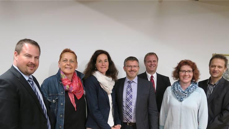 Sie bilden den Vorstand (v. l.): Tobias Kull, Irene Ullmann, Monique Rotzer (neu), Karsten Bugmann (Präsident), Patrik Aebli, Dorina Jerosch und Roland Keil.