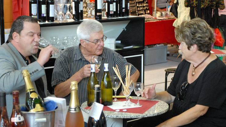 Weindegustation an der letztjährigen Messe.