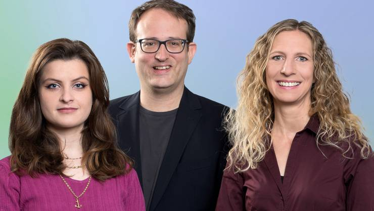 Mia Jenni, Rieden, Christian Denzler, Untersiggenthal, Carol Demarmels, Kirchdorf (v.l.)