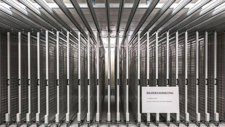 Kulturgüterschutzraum unter dem Kunstmuseum Solothurn vor der Eröffnung