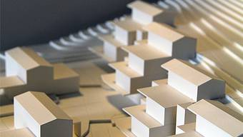 Die Häuser präsentieren sich – zu sehen auf diesem Modellfoto – in einem modernen Erscheinungsbild.