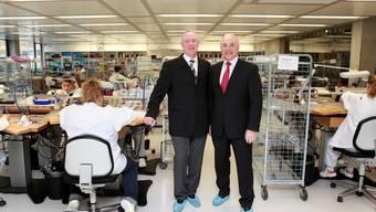 André und Ronnie Bernheim, Besitzer der Uhrenherstellerin Mondaine Watch AG, kämpfen um die Marke «M-Watch». Hanspeter Bärtschi