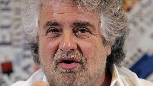 Polit-Satiriker Beppe Grillo (Archiv)