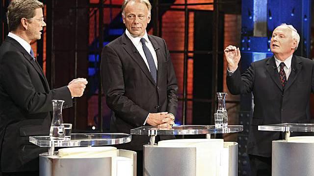 Dreikampf der Oppositionspolitiker im TV