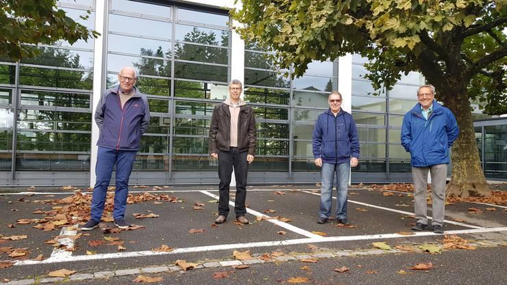 Wehren sich gegen die Buchser Parkplatz-Abzocke: Ueli Kohler, Peter Ris, Ernst Diriwächter und Gusti Ballmer (v.l.) von der IG Buchser Verein.
