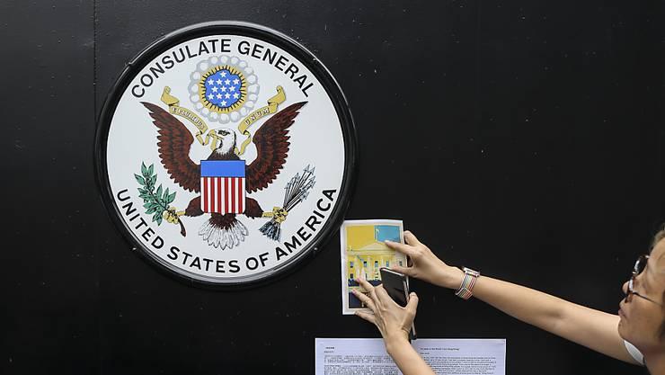 Die USA haben über China verärgert reagiert, weil Peking zahlreiche Angaben über eine US-Diplomatin in Hongkong an die Öffentlichkeit gegeben haben soll. (Symbolbild)
