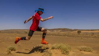 Selbst in der Wüste leichtfüssig unterwegs: Timon Abegglen