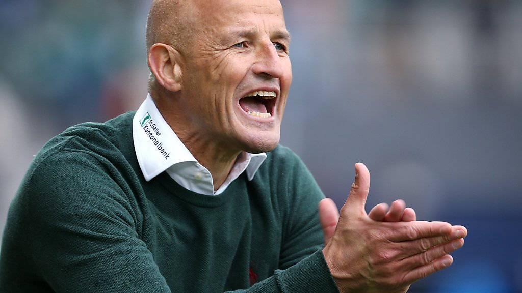 «Die Situation ist ernst»: St. Gallens Trainer Peter Zeidler rüttelt seine Mannschaft wach