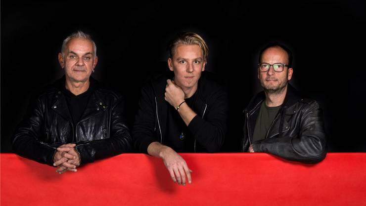 Willi Wullschleger (v.l.), Dominic McGovern und Roger Bryner verbringen viel Zeit mit Dagmar.