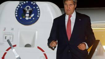 Noch optimistisch: US-Aussenminister Kerry bei der Ankunft in Kairo