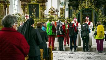 Am 2. Mai 2016 versammelte sich die Pilgergruppe in St. Gallen, um den Pilgermarsch nach Rom anzutreten. Chris Iseli