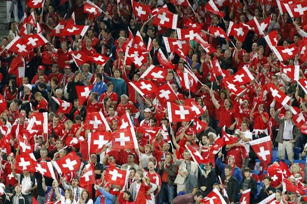 Total aus dem Häuschen: Schweizer Fans