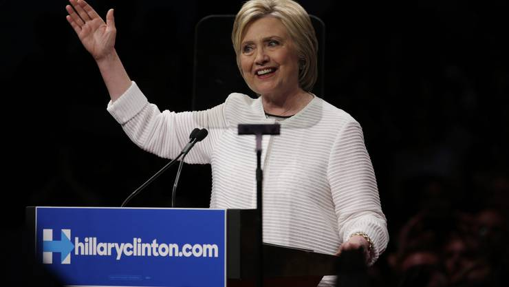 Brooklyn am Dienstagabend: Hillary Clinton hat ein wichtiges Ziel erreicht.