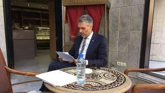 «Rundschau»-Journalist Sandro Brotz bei der Arbeit in Syrien.
