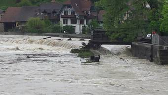 Hochwasser 2015: Brugg und Wallbach rüsten sich