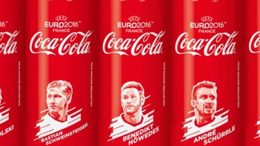 Die Coca-Cola-Dosen mit der deutschen Fussballnationalmannschaft waren gemäss Deutschlands Werberat zulässig. Sie sprächen nicht gezielt Kinder an.