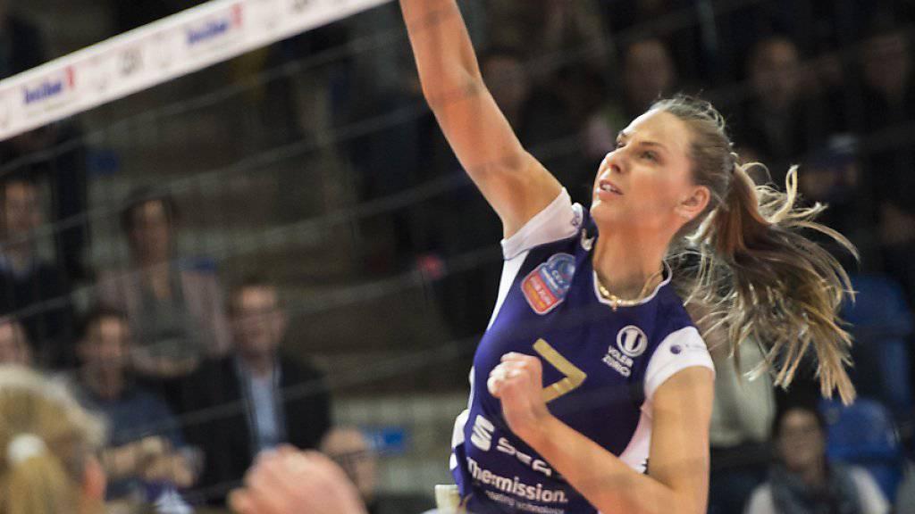 Die ukrainische Aussenangreiferin Alessia Rychljuk war mit 16 Punkten Voleros beste Skorerin gegen Eczacibasi Istanbul