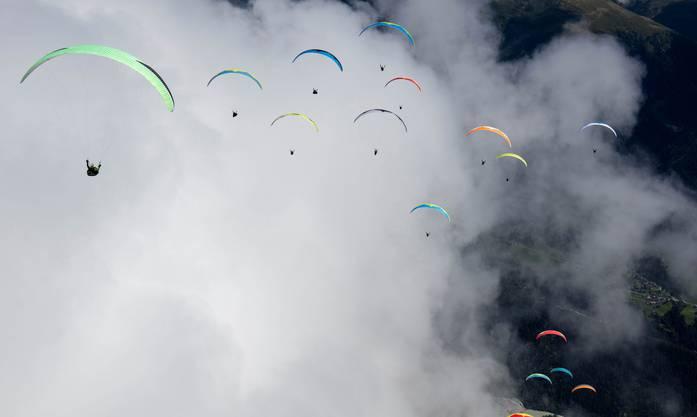 Impressionen von den Schweizer Meisterschaften der Gleitschirmflieger