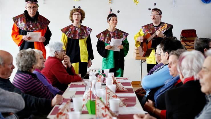 Der zweitletzte Auftritt der Sagibachflööö am ökumenischen Seniorennachmittag