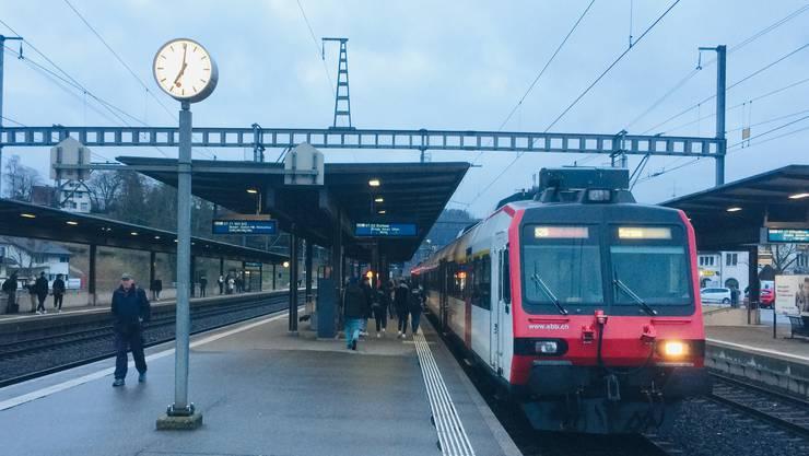 Bahnhof Turgi - hier kommt es zu einem Malheur fast ohne Folgen.
