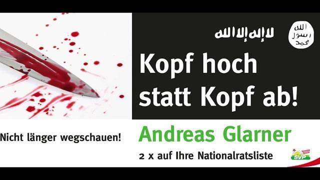 Andreas Glarner provoziert mit blutigen Wahlplakaten – das sagen Parlamentarier in Bern dazu.