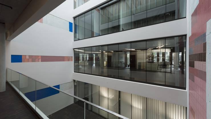 Blick in den Campus Brugg Windisch der Fachhochschule Nordwestschweiz