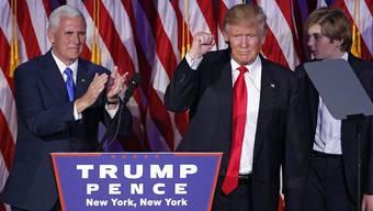 Grosse Überraschung: Donald Trump spricht nach dem Wahlsieg in New York vor seinen Anhängern.