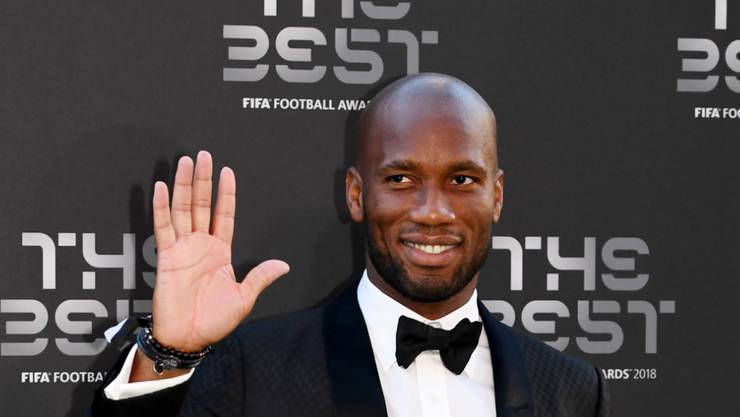 """Didier Drogba (40), hier vor zwei Monaten an der FIFA Awards Gala in London, sagt als Aktiver endgültig """"Servus"""""""
