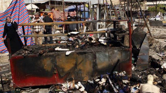 Die Bomben hinterliessen grosse Verwüstungen