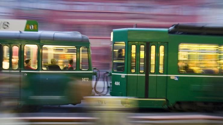 Im Basler Tramverkehr ging während zwei Stunden fast gar nichts mehr. (archiv)