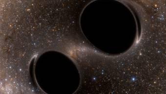 Beim Verschmelzen zweier Schwarzer Löcher entstanden Gravitationswellen, welche die Doppeldetektoren des LIGO-Observatoriums am 14. September 2015 auffangen konnten.