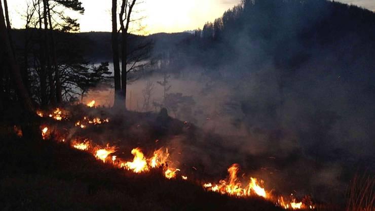 Der Brand in Langenbruck.